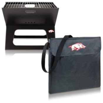 Picnic Time Arkansas Razorbacks Portable X-Grill