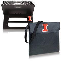 Picnic Time Illinois Fighting Illini Portable X-Grill