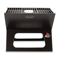 Picnic Time Louisville Cardinals Portable X-Grill