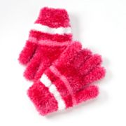 Jumping Beans Striped Eyelash Gloves - Girls