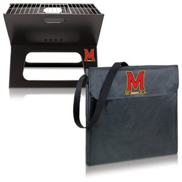 Picnic Time Maryland Terrapins Portable X-Grill