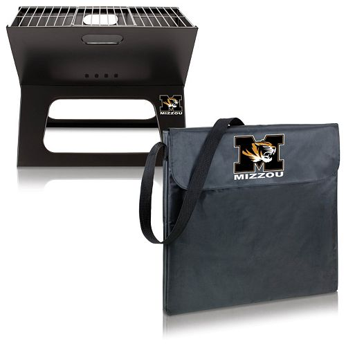Picnic Time Missouri Tigers Portable X-Grill