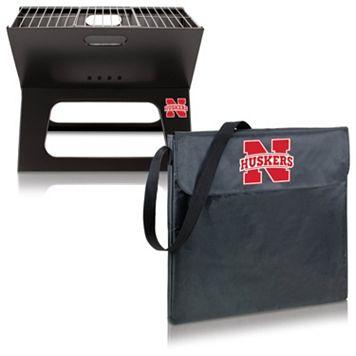 Picnic Time Nebraska Cornhuskers Portable X-Grill