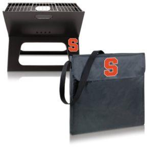 Picnic Time Syracuse Orange Portable X-Grill