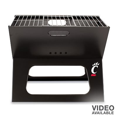 Picnic Time Cincinnati Bearcats Portable X-Grill