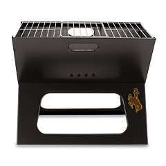 Picnic Time Wyoming Cowboys Portable X-Grill