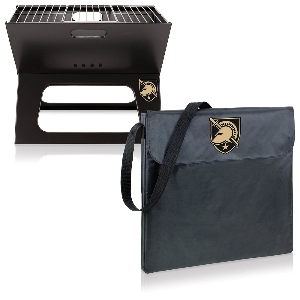 Picnic Time Army Black Knights Portable X-Grill