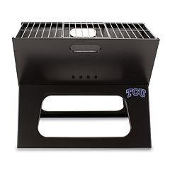 Picnic Time TCU Horned Frogs Portable X-Grill