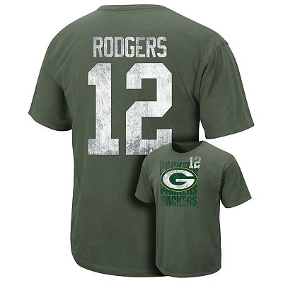 Green Bay Packers Aaron Rodgers Unbalanced Line Tee - Men