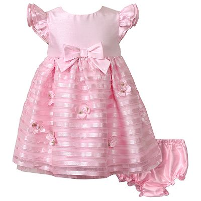 Youngland Floral Shantung Dress - Baby