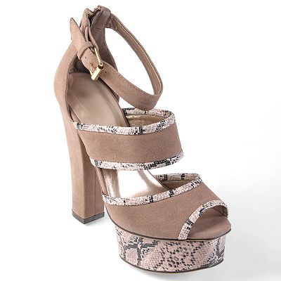 Journee Collection Peep-Toe Platform High Heels - Women