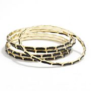 Apt. 9 Gold Tone Textured Bangle Bracelet Set