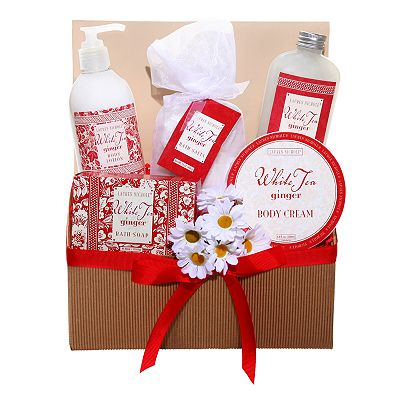 White Tea Ginger Spa Gift Basket