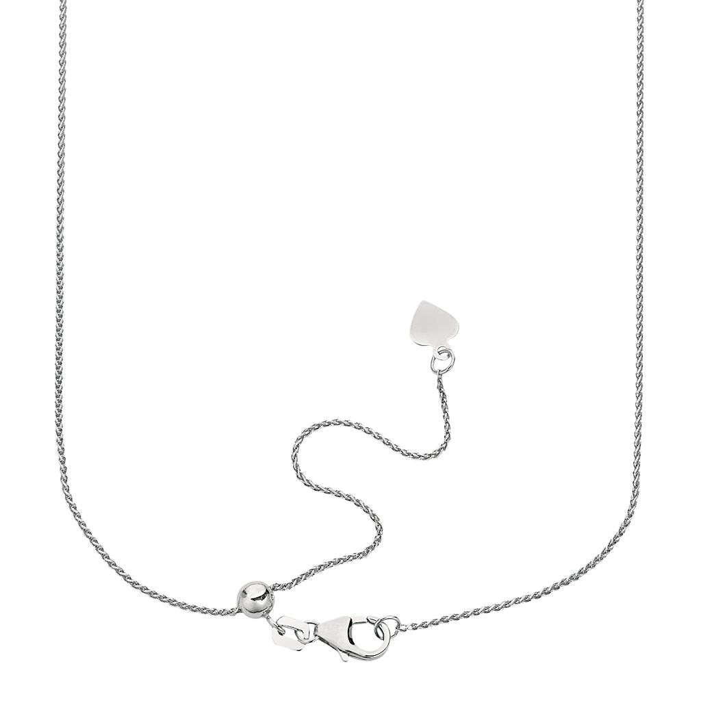 Sterling Silver Wheat Chain Necklace - 16-in.
