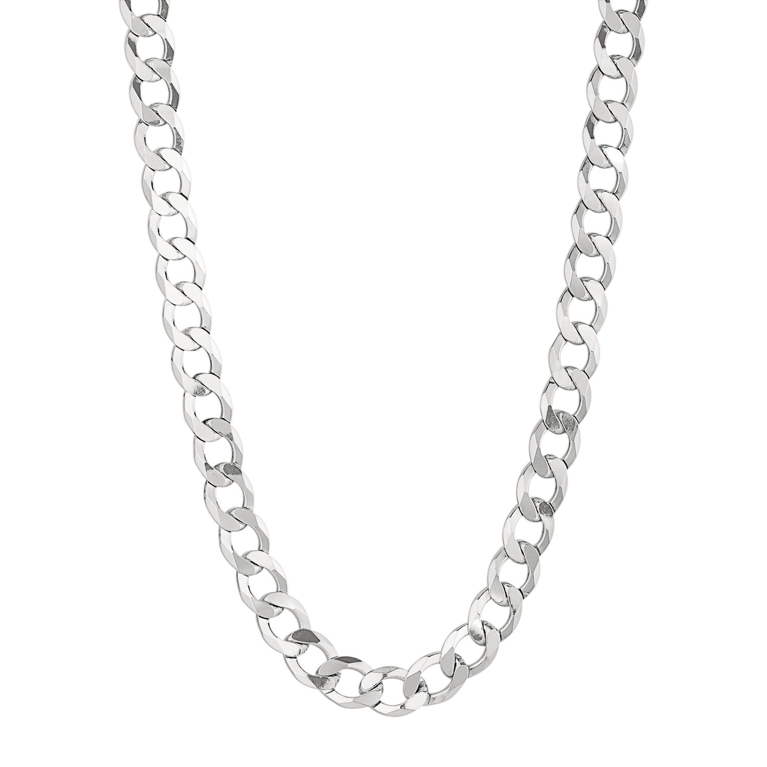 sterling silver curb chain necklace 20in men