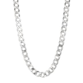 Sterling Silver Curb Chain Necklace -22-in. - Men