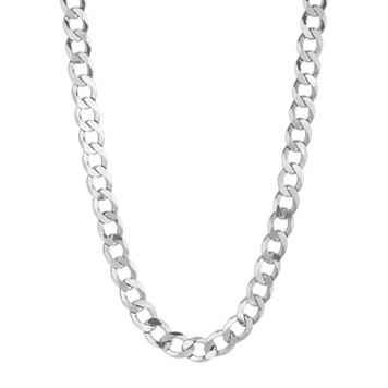 Sterling Silver Curb Chain Necklace -24-in. - Men