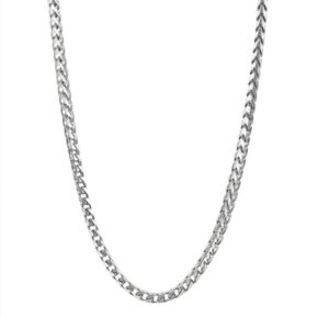 Sterling Silver Franco Chain Necklace - 24-in. - Men
