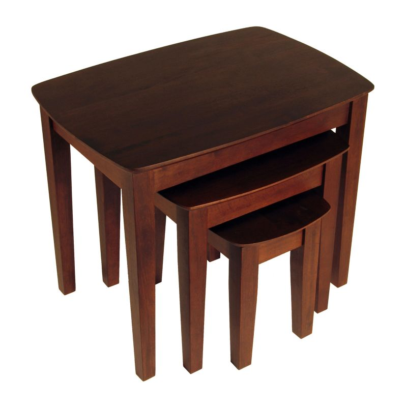 Winsome 3-pc. Nesting End Table Set, Brown
