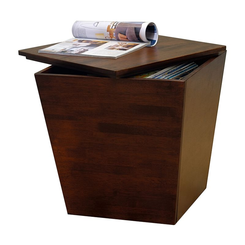 Winsome End Table Storage Cube, Brown
