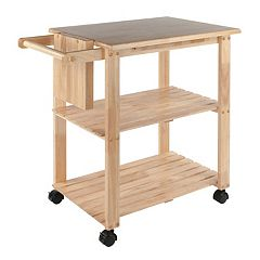 Winsome Knife Block & Cutting Board Kitchen Cart