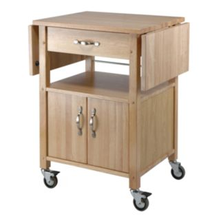 Winsome Drop-Leaf Kitchen Cart