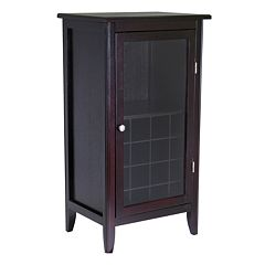 Winsome Glass Door 16-Bottle Wine Cabinet