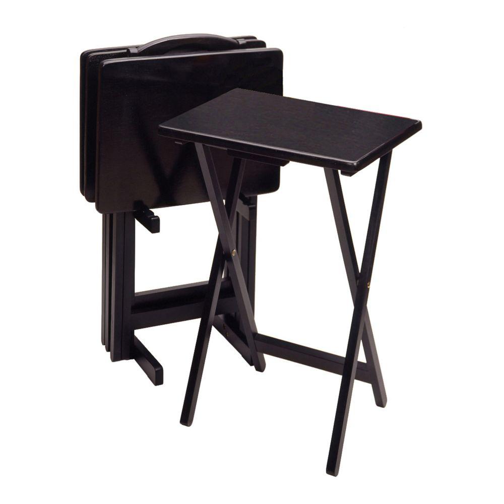 5 pc TV Tray Table Set