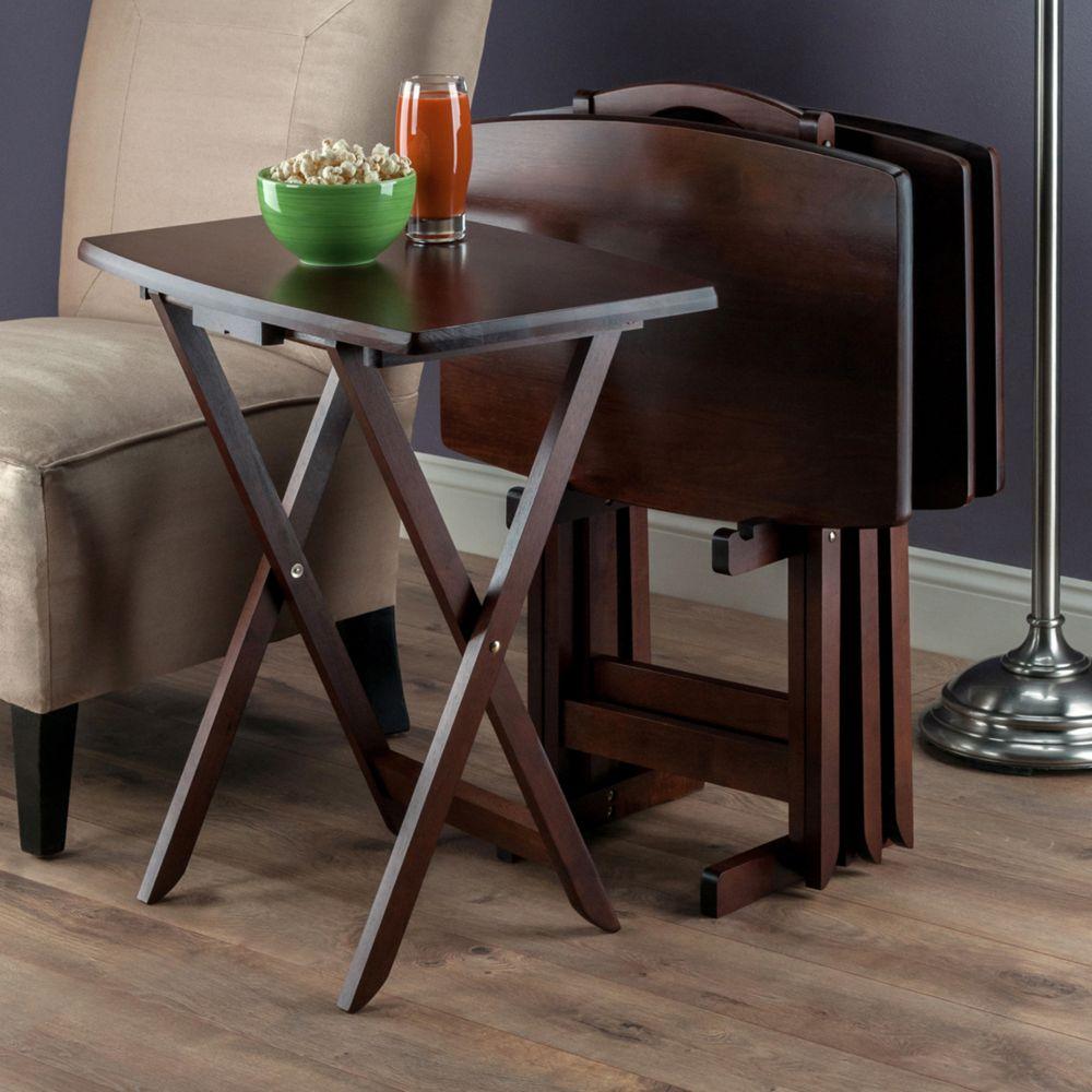 5 pc Oversized TV Tray Table Set