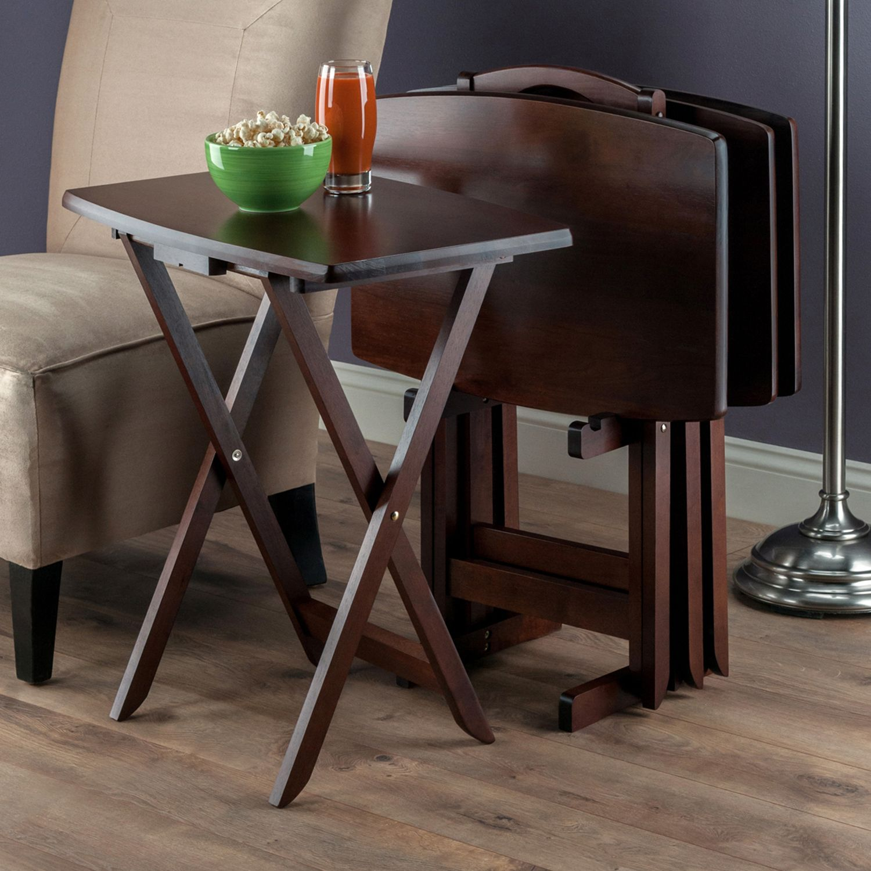 Oversized TV Tray Table Set