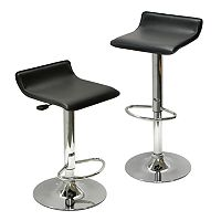 Winsome Airlift 2 pc Adjustable Bar Stool Set