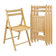 Winsome 4 pc Folding Chair Set