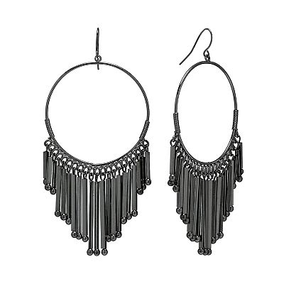 Apt. 9 Jet Chandelier Earrings