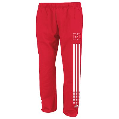 adidas Nebraska Cornhuskers Fleece Sweatpants - Men