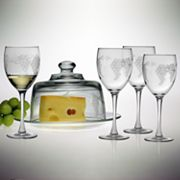 Susquehanna Glass Sonoma Collection 6-pc. Covered Cheese Server and White Wine Glass Set