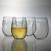 Susquehanna Glass Sonoma Collection 4-pc. Stemless Wine Glass Set