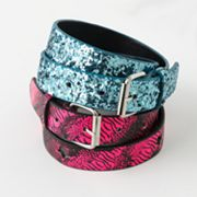 Fantasia 2-pk. Animal and Glitter Belts - Girls