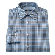 Apt. 9 Slim-Fit Plaid Spread-Collar Dress Shirt