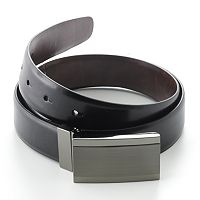 Apt. 9® Plaque Reversible Faux-Leather Belt