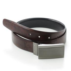 Apt. 9® Plaque Reversible Faux-Leather Belt