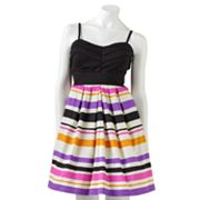 Lily Rose Striped Dress - Juniors