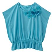 SO Embellished Butterfly Capelet Tee - Girls 7-16