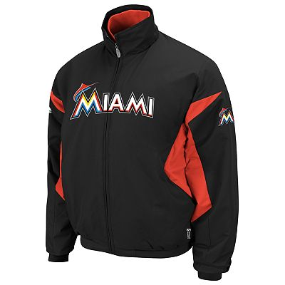 Majestic Miami Marlins Therma Base Triple Peak Premier Jacket