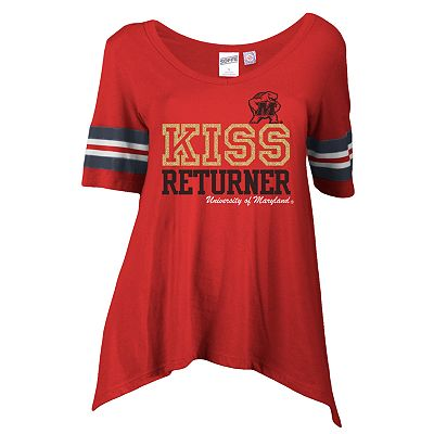 Soffe Maryland Terrapins Kiss Returner Shark-Bite Tee