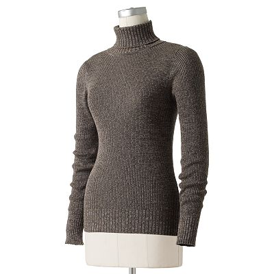 SONOMA life + style Marled Ribbed Turtleneck Sweater