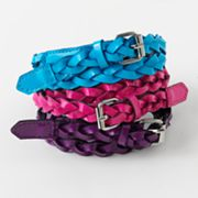 Fantasia 3-pk. Braided Belts - Girls