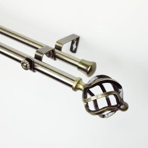 Rod Desyne Twist Adjustable Double Curtain Rod - 48'' - 84''