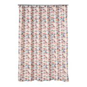 Home Classics Ladder Leaf Fabric Shower Curtain