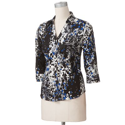 212 Collection Splatter Sateen Shirt