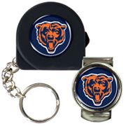 Chicago Bears 6' Tape Measure Key Chain and Money Clip Set